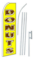 Donuts Extra Wide Swooper Flag Bundle
