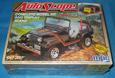 MPC CJ-7 Jeep Autoscope Diorama Base-78-0911 USA 1984-FS Kit Model Car Swap Meet