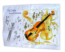 Musical Violin Tea Towel - Violin Gift - Music Themed Gifts for Musicians