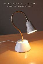 RARE! MID CENTURY MODERN ATOMIC TRANSFORMER LAMP! 50's Vtg Eames White Light 60s