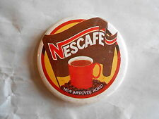 Vintage Nescafe Coffee Advertising Pinback Button