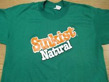 NOS vintage 80s SUNKIST NATURAL SODA T-Shirt MEDIUM orange pop surf beach thin