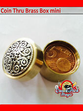 5c COIN THRU BRASS BOX MAGIC TRICK - 5c EURO CLOSE UP MAGIC TRICK - WATCH VIDEO