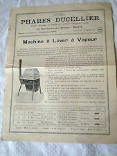 Vintage sales and instructions for steam washing machine Ducellier french 1900s
