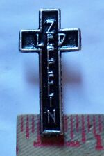 Vintage Led Zeppelin cross pin collectible old rock band music ad metal pinback