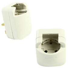 UK Mains Plug to Schuko Socket Converter - 13A Fused Euro EU Travel Adapter