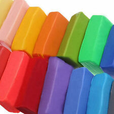 12 Colors Craft Soft Polymer Clay Plasticine Blocks Fimo Effect Modeling hot uk