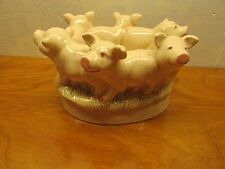 vintage holland mold ring of pigs planter