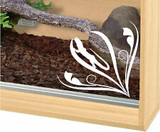 Vivaruim tank glass sticker, lizard, bearded dragon,geko, skink etch look decal