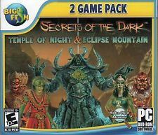 SECRETS OF THE DARK TEMPLE OF NIGHT + ECLIPSE MOUNTAIN Hidden Object PC Game NEW