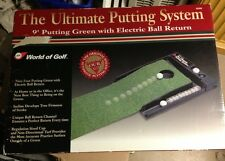 World of Golf The Ultimate Putting System 9 foot Green with Electric Ball Return