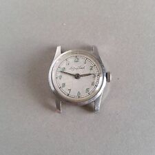 Vintage Mathey Tissot Military Style Watch 32mm Screw-back Steel Case Swiss 15J