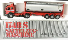 NZG 317 /2 - Mercedes-Benz MB 1748 S Tankcontainer Sattelzug - 1:43 Model Truck