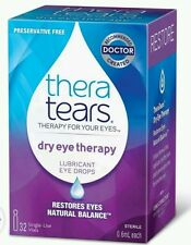 2x Thera Tears Lubricant Eye Drops - 0.65 Oz - 32 single use vials per box