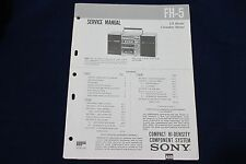 Original Sony FH-5 Compact Hi-Density Componet System Boombox Service Manual