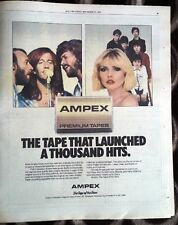 BLONDIE  Bee Gees Ampex 1980 US Poster size Press ADVERT 12x10 inches
