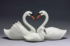 Swans set Miniature Ceramic Animals Figurine,Collectibles,terrarium