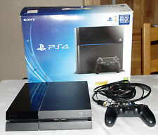 Sony PlayStation 4 500GB jet black console-boîte d'origine-tout inclus