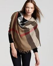BURBERRY HOUSE CHECK SQUARE WOOL SCARF 110x110