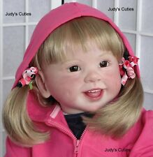 Reborn girl toddler Jette, Regina Swialkowski, Gymboree, glass eyes, big girl,nr