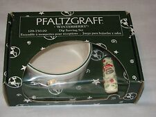 Pfaltzgraff Winterberry Holiday Christmas Dip Serving Set Cheese Spread Knife