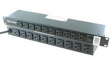 "20 Outlet - 19"" Inch Rack Mount Power Bar Distribution Tap Strip 15 Amp - 1U"