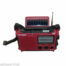 Red Kaito KA500 Voyager Solar Crank Battery Survival Radio AM FM Shortwave
