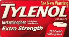 TYLENOL EXTRA STRENGTH 225 TABLETS  500 mg ACETAMINOPHEN PAIN RELIEVER EX 12/17+