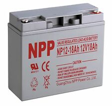 NPP 12V 18 Amp 12 Volt 18Ah Rechargeable Sealed Lead Acid Battery