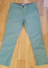 Boden 7/8 Chino Trouser Green Stretch Cotton Ankle Length (J56) - UK 10P
