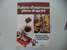 advertising Pubblicità 1973 FERRERO POCKET COFFEE