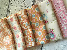 Tilda Fabric NEW Spring Diaries 6x Fat Quarter Honey y Bundle 100% cotton fabric