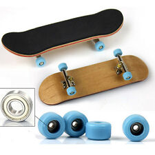 Complete Wooden Fingerboard Finger Skate Board Grit Box Foam Tape Maple Wood