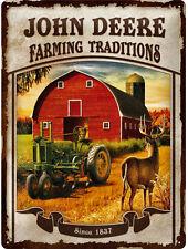 John Deere Plaque Oldtimer Tracteur Vintage Affiche Publicité 323