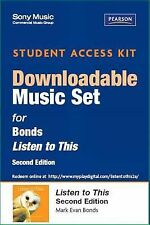 Sony Music Download Access Card for Listen to This (2nd Edition)