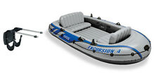 Intex Excursion 4 Inflatable River/Lake Boat Raft Set & Motor Mount Kit