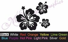 ** HIBISCUS HAWAIIAN FLOWERS ** Car Decal, Vinyl, Drift Sticker, JDM, DUB, SURF
