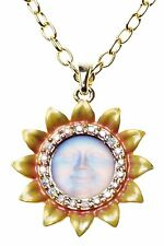 KIRKS FOLLY  PETITE SUNFLOWER SEAVIEW MOON NECKLACE  lavender NEVER RELEASED
