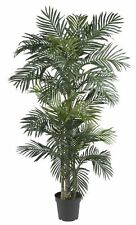 6.5 ' Ft Large Silk Palm Tree Artificial Tropical Potted Plant Home Office Decor