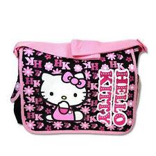 Messenger Diaper School Shoulder Bag Sanrio Hello Kitty Flowers Pink Black NEW