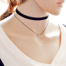 Punk Gothic Pendant Multilayer Artificial Leather Collar Choker Necklace