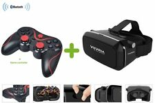 Bluetooth Game Control+3D VRVIIVRIA Virtual Reality Glasses For IOS Android