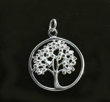 925 Sterling Silver Filigree Hollow Tree Of Life Pendant, Wholesale Price!