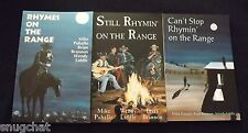 3 SIGNED Cowboy Poetry Books Rhymes on the Range Series Puhallo Brannon Liddle