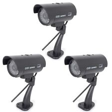 3xQuality Dummy Fake Outdoor Indoor CCTV Security Camera Blinking LED Night CAM