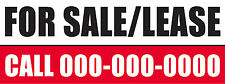 60in x 24in Banner Sign CUSTOM FOR SALE/LEASE Add Your Phone Number Multi-Color
