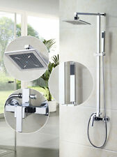 "Bath 8"" Shower Faucet Wall Mount Kit Bathroom Tub Mixer Tap + Hand Shower"