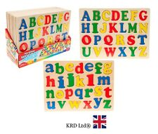 ALPHABET PUZZLE Jigsaw Kids Child Learning ABC Wood Toy Birthday Christmas Gift