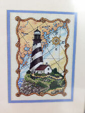Counted Cross Stitch Kit Mariners Light Lighthouse Dimensions Gold 6779 5x7""