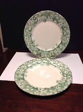Bryony England Grindley Dinner Plate Lot Of 2 Green Transferware